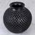 Ceramic decorative vase, 'Oaxacan Raindrops' - Teardrop Motif Oaxaca Barro Negro Decorative Ceramic Vase (image 2b) thumbail