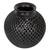 Ceramic decorative vase, 'Oaxacan Raindrops' - Teardrop Motif Oaxaca Barro Negro Decorative Ceramic Vase (image 2d) thumbail