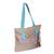 Cotton tote, 'Lovely Sky' - Handwoven Cotton Tote in Sky Blue from Mexico (image 2a) thumbail