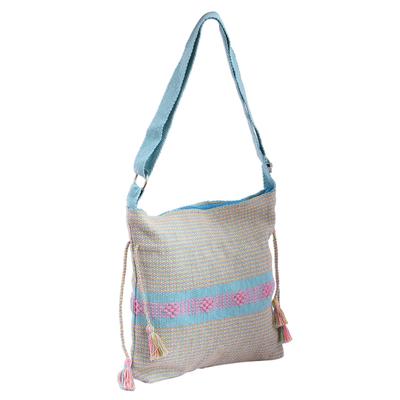 Novica Cotton shoulder bag, Diamonds in the Sky