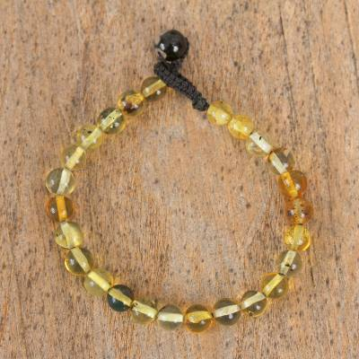 Novica Amber beaded necklace, Honey Dew