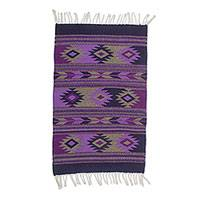 Zapotec wool area rug, 'Geometric Diamonds' (2x3) - Zapotec Geometric Wool Area Rug (2x3) from Mexico