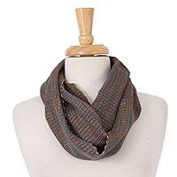 Cotton infinity scarf, 'Stylishly Cool' - Multicolored Cotton Unisex Infinity Scarf from Mexico