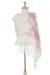 Zapotec cotton rebozo shawl, 'Morning Rose' - Off-White and Fuchsia Striped Handwoven Cotton Rebozo (image 2a) thumbail