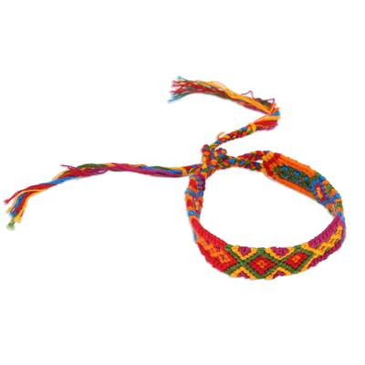 Colorful Handwoven Cotton Wristband Bracelets (Set of 3)