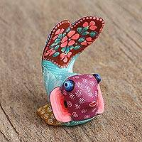 Wood alebrije figurine, 'Stunning Fish' - Artisan Crafted Alebrije Wood Fish Figurine from Mexico