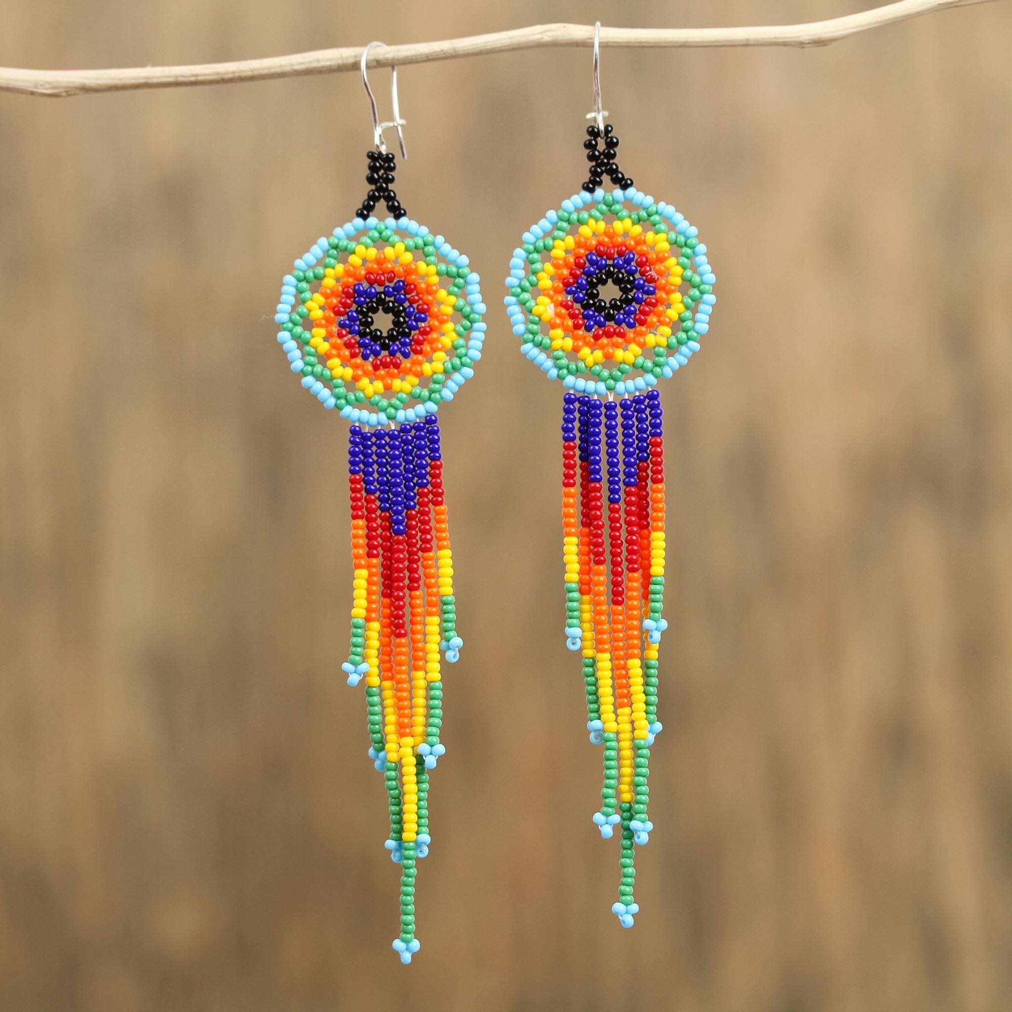 Mexican inspired jewelry necklace and earrings set 2 pieces