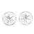 Sterling silver button earrings, 'Sparkling Wonder' - Handcrafted Sterling Silver Button Earrings from Mexico (image 2a) thumbail