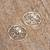 Sterling silver button earrings, 'Sparkling Wonder' - Handcrafted Sterling Silver Button Earrings from Mexico (image 2c) thumbail