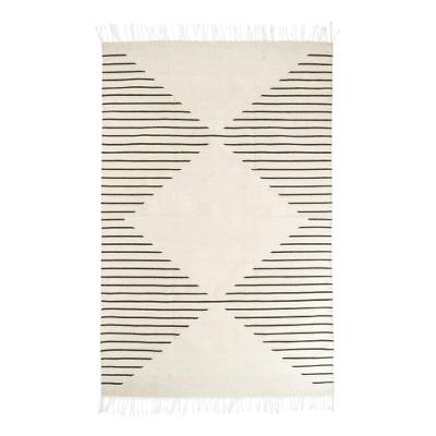 Wool area rug, 'Lines of Life' (4x7.5) - Handwoven Wool Zapotec Area Rug from Mexico (4x7.5)