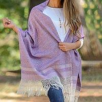 Cotton rebozo, 'Berry Combination'