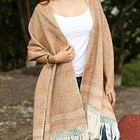 Cotton rebozo, 'Earth Hues'