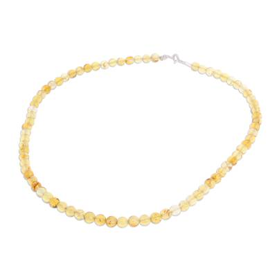 Handcrafted Amber Beaded Necklace from Mexico