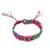 Cotton braided wristband bracelets, 'Festival Colors' (set of 3) - Colorful Cotton Wristband Brtacelets (Set of 3) from Mexico (image 2a) thumbail