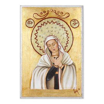 Recycled Pinewood Wall Art of Virgin Mary - Sweet Mary   NOVICA