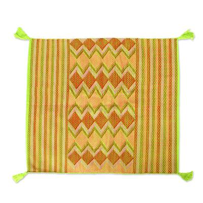 Chiapas Motif Cotton Cushion Cover from Mexico (Pair)