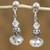 Swarovski crystal dangle earrings, 'Sparkling Fantasy' - Sterling Silver and Swarovski Crystal Dangle Earrings thumbail