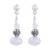 Swarovski crystal dangle earrings, 'Sparkling Fantasy' - Sterling Silver and Swarovski Crystal Dangle Earrings (image 2a) thumbail