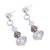 Swarovski crystal dangle earrings, 'Sparkling Fantasy' - Sterling Silver and Swarovski Crystal Dangle Earrings (image 2c) thumbail