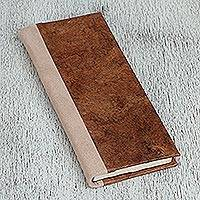 Recycled paper journal, 'Forest Floor' - Recycled Paper Journal in Brown from Mexico