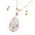 Agate and quartz jewelry set, 'Dazzling Light' - Gold Plated Quartz and Agate Necklace and Earring Set (image 2b) thumbail