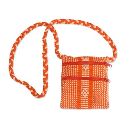 Handwoven Cotton Sling in Flame from Mexico
