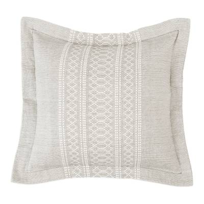 Cotton and Silk Blend Cushion Cover in Grey from Mexico