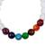 Agate and tiger's eye beaded stretch bracelet, 'Seven Chakras in White' - Agate and Tiger's Eye Chakra Bracelet in White from Mexico (image 2c) thumbail