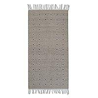 Wool area rug, 'Desert Drops' (2.5x5) - Handwoven Wool Area Rug from Mexico (2.5x5)