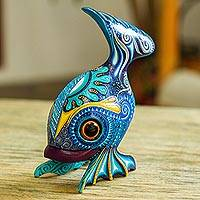 Wood alebrije figurine, 'Fish Handstand' - Hand-Painted Wood Alebrije Fish Figurine from Mexico