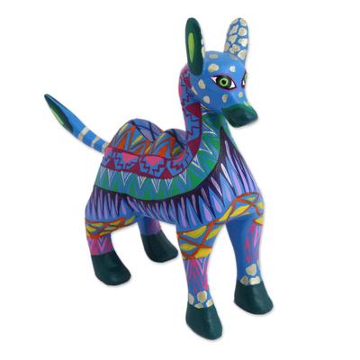 Wood alebrije figurine, 'Vibrant Camel' - Colorful Wood Alebrije Camel Figurine from Mexico