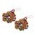 Glass beaded dangle earrings, 'Huichol Color' - Multicolored Glass Beaded Dangle Earrings from Mexico (image 2c) thumbail