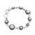 Cultured pearl link bracelet, 'Dark Circles' - Circular Cultured Pearl Link Bracelet from Mexico (image 2a) thumbail