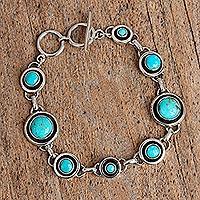 Turquoise link bracelet,
