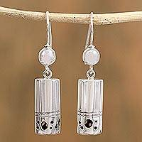 Sterling silver dangle earrings, 'Wholly Mysterious' - Taxco Sterling Silver Dangle Earrings from Mexico