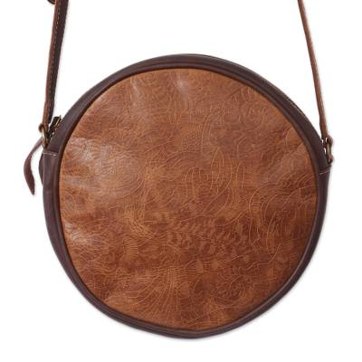 Handmade Leather Sling in Chestnut and Espresso from Mexico