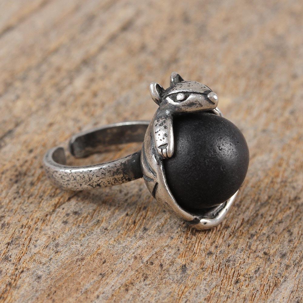 Unique Sterling Silver Armadillo Ring