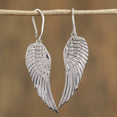 Taxco Sterling Silver Wing Dangle Earrings From Mexico Untamed