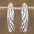 Sterling silver half-hoop earrings, 'Spiraling Loops' - Spiraling Taxco Sterling Silver Half-Hoop Earrings (image 2b) thumbail