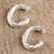 Sterling silver half-hoop earrings, 'Spiraling Loops' - Spiraling Taxco Sterling Silver Half-Hoop Earrings (image 2c) thumbail