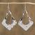 Sterling silver dangle earrings, 'Modern Kites' - Kite-Shaped Taxco Sterling Silver Dangle Earrings thumbail
