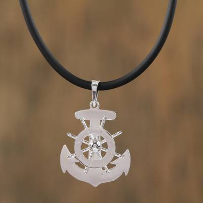 Nautical taxco sterling silver pendant necklace from mexico sterling silver pendant necklace boundless seas nautical taxco sterling silver pendant necklace mozeypictures Images