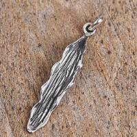 Sterling silver pendant, 'Leaf of the Jungle' - Leaf-Shaped Taxco Sterling Silver Pendant from Mexico