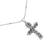 Sterling silver pendant necklace, 'Textured Cross' - Textured Sterling Silver Cross Pendant Necklace from Mexico (image 2a) thumbail