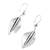 Sterling silver dangle earrings, 'Smooth Leaves' - Sterling Silver Leaf Dangle Earrings from Mexico (image 2a) thumbail