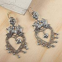 Featured review for Sterling silver chandelier earrings, Amorous Delight