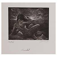 'Anxiety' - Signed Artistic Nude Print from Mexico