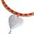 Gold accented ceramic pendant necklace, 'Rhombus Heart' - 14k Gold Plated Ceramic Heart Pendant Necklace from Mexico (image 2c) thumbail