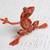 Wood alebrije sculpture, 'Lithe Tree Frog' - Wood Alebrije Tree Frog Sculpture from Mexico (image 2b) thumbail