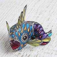 Wood alebrije figurine, 'Fascinating Fish' - Colorful Wood Alebrije Fish Figurine from Mexico